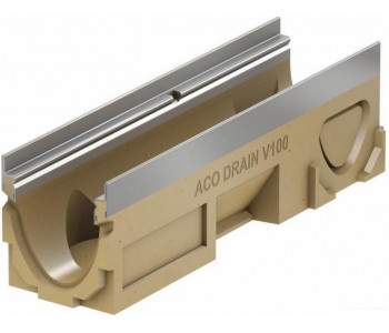 Канал ACO Multiline V100, l=50cm, h=17,5cm, кант из оцинк. стали