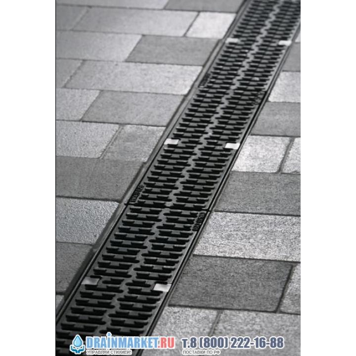 Решетка с прорезями V100 чугун, l=50cm, C250