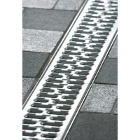 Решетка с прорезями V100 нержавеющая сталь, l=50cm, С250