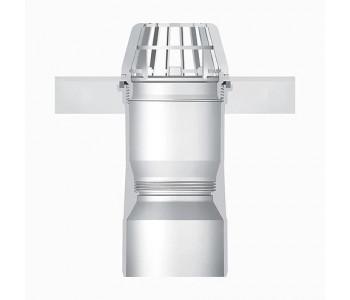 Выпускной элемент из пластика для приямка ACO Therm с корзиной для улавливания листьев