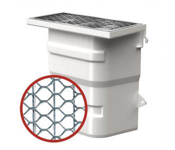 Вентиляционная шахта из пластика (40х40х20) с дном с монтажным комплектом и сетчатой решеткой из оцинкованной стали