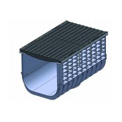 Пластиковые водоотводные лотки Profi DN500 в сборе с решетками до класса нагрузки E