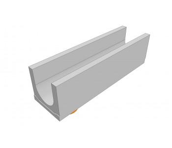 Лоток водоотводный бетонный DRENLINE Standart DN200 h250 с вертикальным водосливом