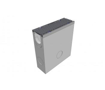 Пескоуловитель бетонный DRENLINE Super DN100 h550 с решеткой чугунной ВЧ (комплект) кл. Е600