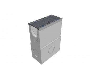 Пескоуловитель бетонный DRENLINE Super DN150 h700 с решеткой чугунной ВЧ (комплект) кл. Е600