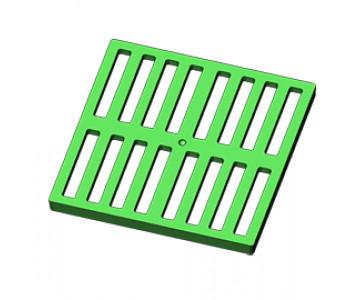 Решетка пластиковая зеленая к дождеприемнику EUROPLAST 300 арт.914
