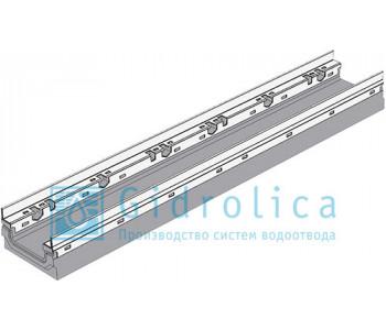 Лоток водоотводный бетонный коробчатый (СО-100мм)  с оцинкованнйо насадкой КП 100.16,3 (10).10(6,5)- BGF-Z