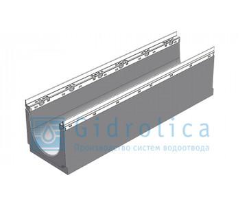 Лоток водоотводный бетонный коробчатый (СО-200мм), с оцинкованной насадкой КU 100.26,3 (20).28(22,5) - BGU-Z, № 0