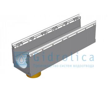 Лоток водоотводный бетонный коробчатый (СО-200мм), с оцинкованной насадкой, с водосливом КUв 100.26,3 (20).28(22,5) - BGU-Z, № 0