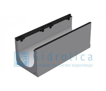 Лоток водоотводный бетонный коробчатый (СО-300мм), с чугунной насадкой  КU 100.39,9 (30).39,5(32,5) - BGZ-S, № 0