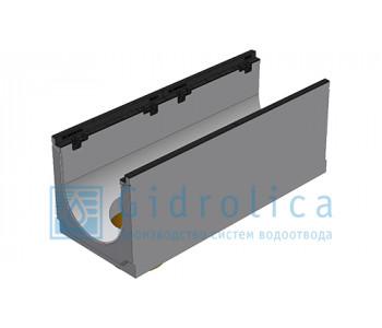 Лоток водоотводный бетонный коробчатый (СО-300мм), с чугунной насадкой, с водосливом КUв 100.39,9 (30).39,5(32,5) - BGZ-S, № 0