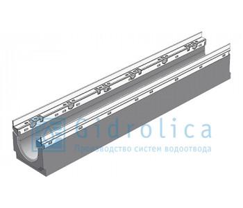 Лоток водоотводный бетонный коробчатый (СО-100мм), с оцинкованной насадкой КU 100.16,3 (10).16,5(12,5) - BGU-Z, № 0