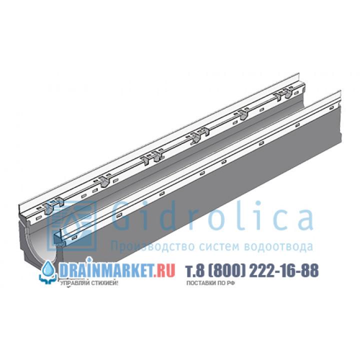 Лоток водоотводный бетонный коробчатый (СО-100мм), с оцинкованной насадкой, с уклоном 0,5%  КUу 100.16,3 (10).21,5(17,5) - BGU-Z, № 10