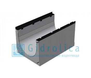 Лоток водоотводный бетонный коробчатый (СО-500мм), с чугунной насадкой  КU 100.60,3 (50).45(36) - BGZ-S, № 0