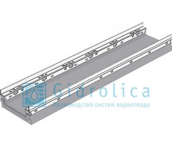 Лоток водоотводный бетонный коробчатый (СО-150мм), с оцинкованной насадкой КПв 100.16,3 (10).10(6,5) - BGF