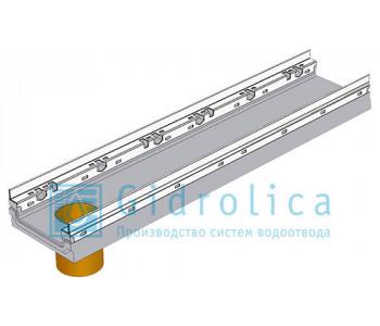 Лоток водоотводный бетонный коробчатый (СО-150мм), с оцинкованной насадкой, с водосливом КПв 100.26,3 (20).10(6,5) - BGF-Z