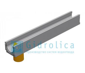 Лоток водоотводный бетонный коробчатый (СО-100мм), с водосливом КUв  100.14 (10).12,5(9) - BGU