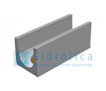 Лоток водоотводный бетонный коробчатый (СО-300мм), с водосливом КUв 100.39,4(30).39,5(32,5) - BGU, № 0