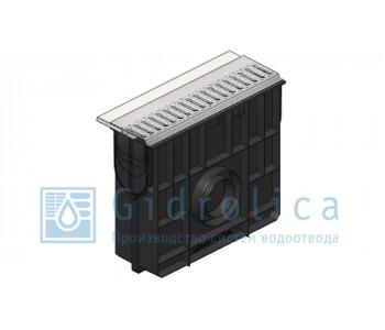 Комплект Gidrolica Sport: пескоуловитель ПУ-10.16.42 пластиковый с решеткой РВ-10.14,2.50 стальной оцинкованной, кл.А15