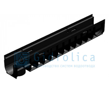 Лоток водоотводный Gidrolica Pro ЛВ-10.14,5.15,2 - пластиковый