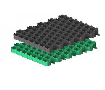 Решетка газонная Gidrolica Eco Normal РГ-53.43.3,5 - пластиковая зеленая