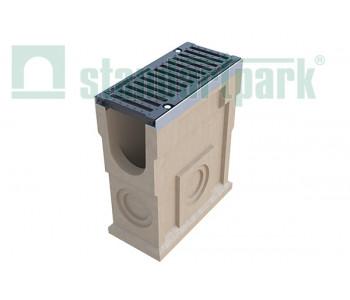 Пескоуловитель CompoMax ПУ-16.25.60-П полимербетонный с решеткой щелевой чугунной ВЧ кл. Е (комплект) 07380 арт.7380