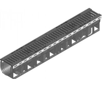 Канал RECYFIX PLUS. высота 135 мм, в сборе с чугунной щелевой решеткой арт.40361