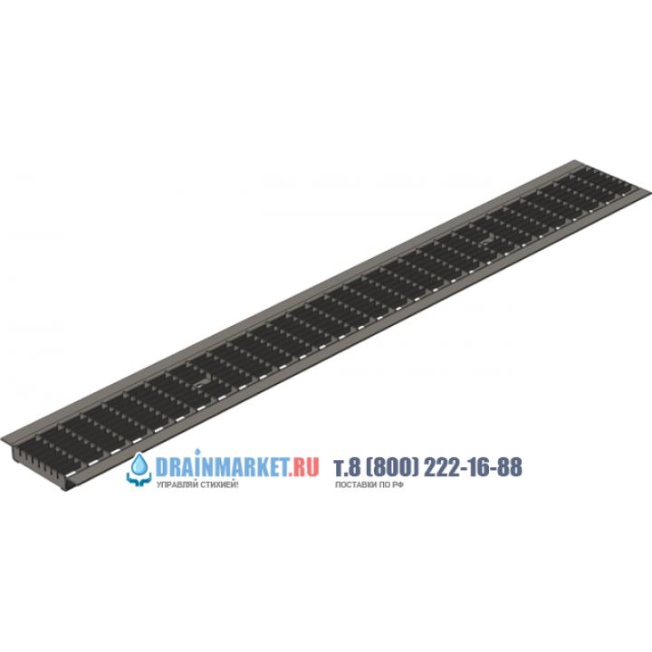 Ячеистая стальная оцинкованная дренажная решетка Gidrolica standart рв-10.13,6.100 арт.501