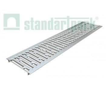 Решетка водоприемная Basic РВ-20.24.100 штампованная стальная оцинкованная 2510 арт.2510