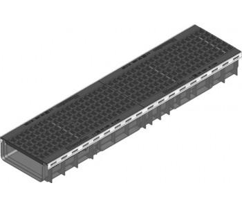 Канал RECYFIX PLUS в сборе с чугунной ячеистой решеткой  GUGI  арт.40741