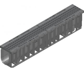 Канал RECYFIX PRO. тип 010, в сборе с ячеистой решеткой GUGI из полиамида арт.47040