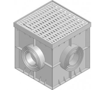Дождеприемник RECYFIX POINT с ячеистой оцинк. решеткой (30х15) арт.183