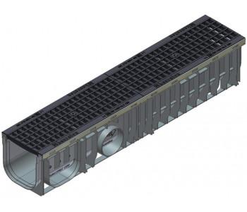 Канал RECYFIX PLUS, тип 01 с чугунной решеткой  GUGI арт.41075