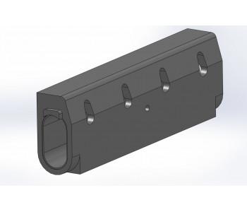 Ревизионный бордюр b150 h305 с решеткой, полимербетон арт.РБ.15.305