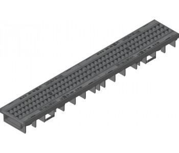 Канал RECYFIX PRO, тип 75,  в сборе с ячеистой решеткой GUGI из полиамида арт.47032