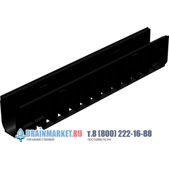 Пластиковый дренажный лоток Gidrolica standart лв-10.14,5.18,5 арт.802