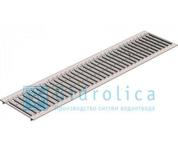 Водоотводная решетка Gidrolica standart рв-15.24.100 штампованная стальная нержавеющая арт.523