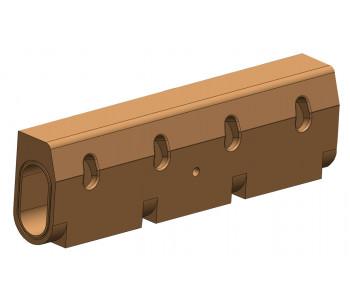Водоотводной бордюр b150 h345, полимербетон арт.ВБР.15.345