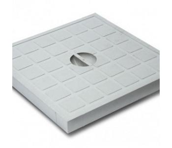Крышка пластиковая серая к дождеприемнику EUROPLAST 550 арт.4896
