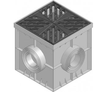 Дождеприемник  RECYFIX POINT с чугунной звездчатой решеткой  арт.185