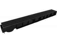 Дренажный водоотвод с пластиковой ливневой решеткой H95 арт.8807