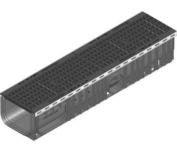 Канал RECYFIX PLUS в сборе с ячеистой решеткой GUGI из пластичного чугуна арт.40775
