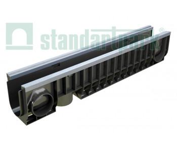 Лоток водоотводный PolyMax Basic ЛВ-10.16.20-ПП пластиковый усиленный 8047 арт.8047