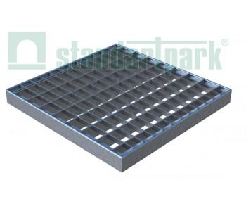 Решетка стальная Basic (ячеистая) к дождеприемнику 300x300 3320 арт.3320