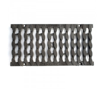 Дренажная решетка чугунная щелевая Косичка (класс нагрузки D400) арт.31017D