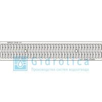 Водоотводная решетка стальная нержавеющая Gidrolica standart рв-15.18,6.100 штампованная арт.513