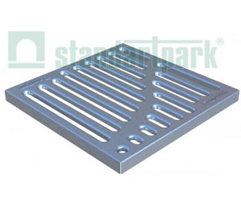 Решетка стальная штампованная Basic (оцинкованная) к дождеприемнику 300x300 33104 арт.33104