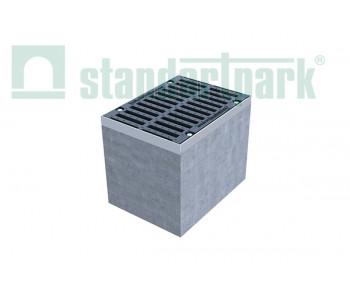 Дождеприемный колодец секционный BetoMax ДК-30.38.44-Б-В бетонный с решеткой щелевой чугунной ВЧ кл. D (верхняя часть, комплект) 04772/1  арт.04772/1