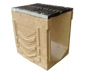 Ревизионный лоток dn300 h310 к ВМБ.30.31 с чугунной решеткой ВЧ 50, Е600 арт.РЛ.30.31