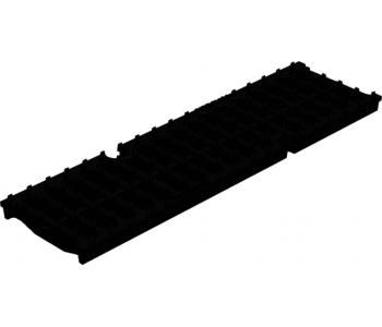 Чугунная ливневая решетка Gidrolica super рв-10.14.50 щелевая арт.50109E